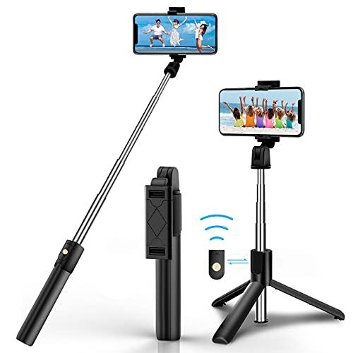 Selfie Stick Stativ, Bluetooth Selfie Stick...