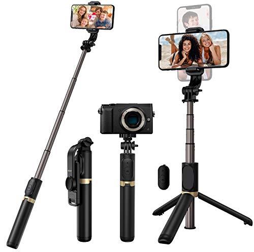 Blukar Bluetooth Selfie Stick Stativ, 4 in 1...