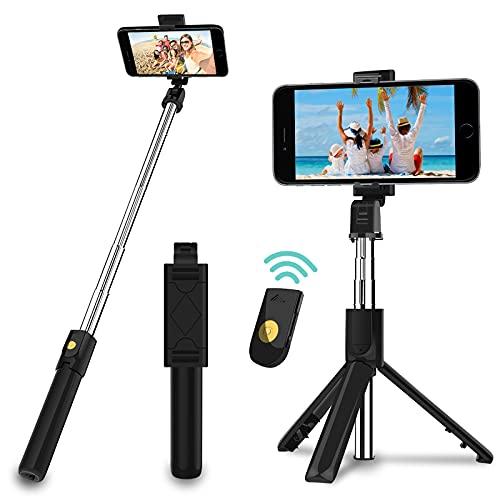 Selfie Stick Stativ, 3 in 1 Mini Selfiestick...