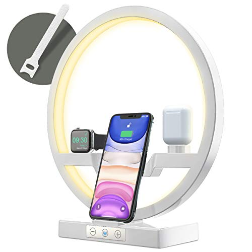Bestrans Wireless Charger mit LED Lampe,...