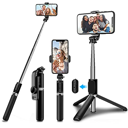 Bluetooth Selfie Stick Tripod,Extendable...