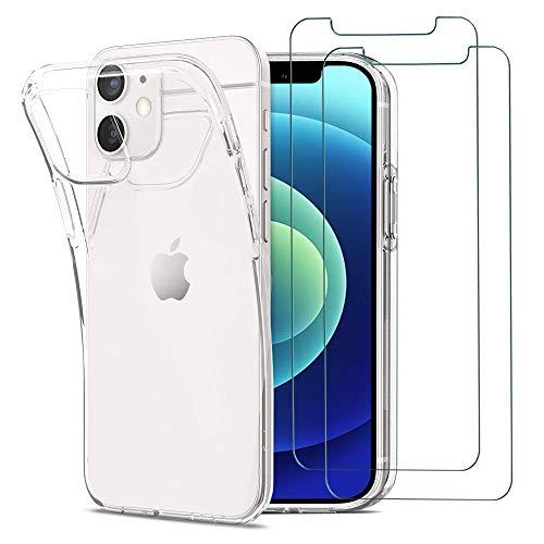iLieber iPhone 12 Mini Hülle Panzerglas, [1...