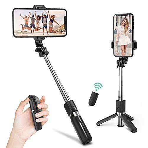 Deerfun Selfie Stick, Bluetooth Selfie Stick...