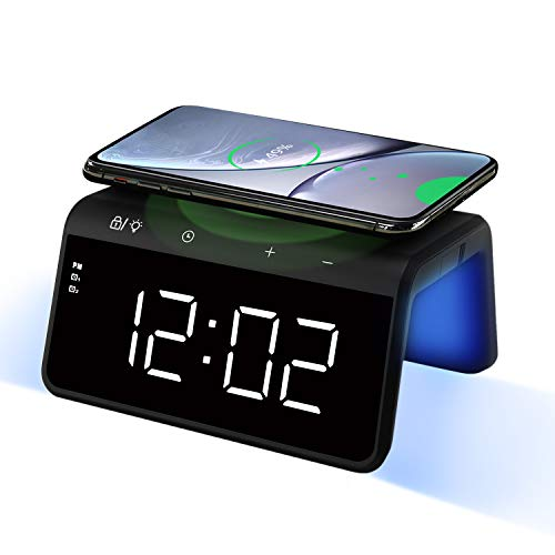 Pointuch Digital Alarm Clock with Wireless...
