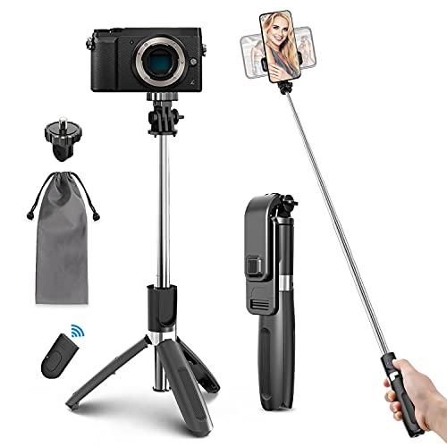 Selfie Stick Stativ 4 in 1 Selfiestick...