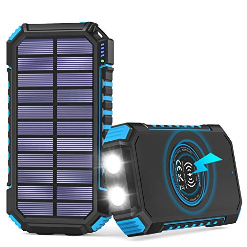 Solar Powerbank 26800mAh, Hiluckey Wireless...