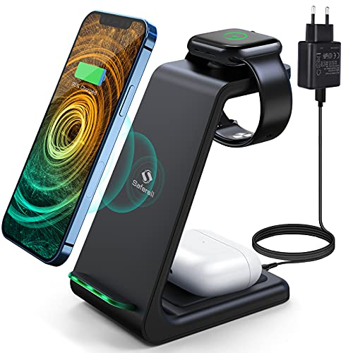 Saferell Wireless Charger 3 in 1 Induktive...