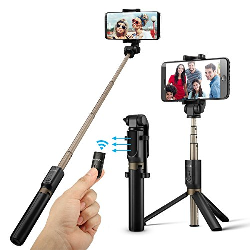 BlitzWolf Bluetooth Selfie Stick Stativ, 3 in...